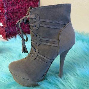 Beige women's heels